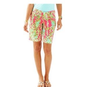 Lilly Pulitzer Floral Print Chipper Shorts Size 0